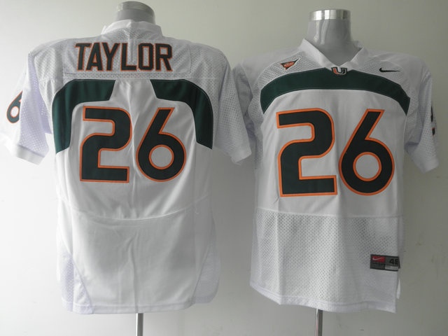 Nike NCAA Miami Hurricanes 26 Sean Taylor White