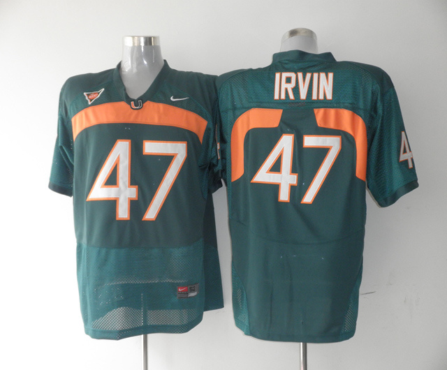 Nike NCAA Miami Hurricanes 47 Michael Irvin green