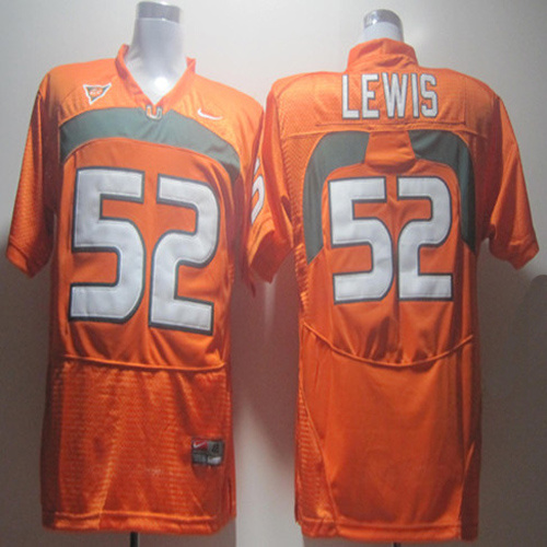 Nike NCAA Miami Hurricanes 52 Ray Lewis orange .jpg