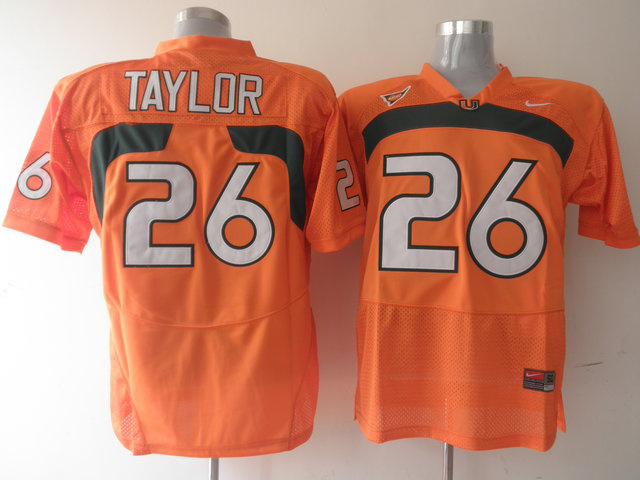 Nike NCAA Miami Hurricanes26 Sean Taylor orange