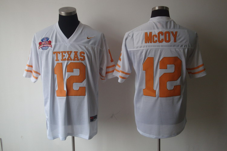 Nike Texas Longhorns #12 White Tackle Twill Football Jersey