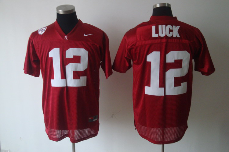 Standford Cardinals Andrew Luck 12 Red NCAA Football