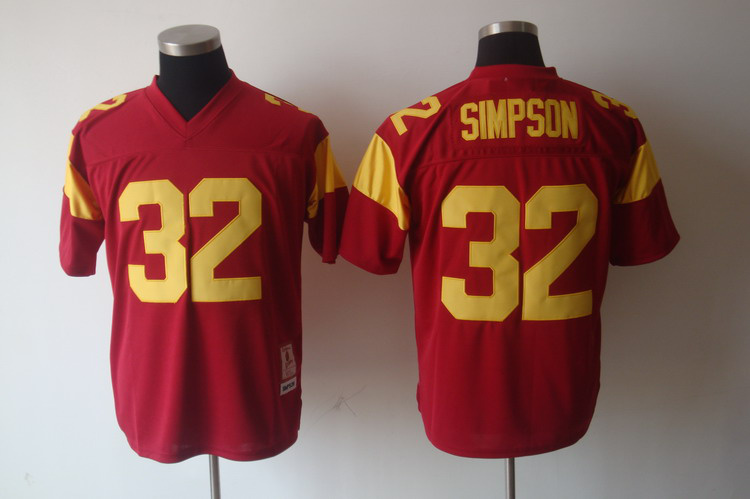 USC Trojans O.J. Simpson 32 Red College Football Jersey