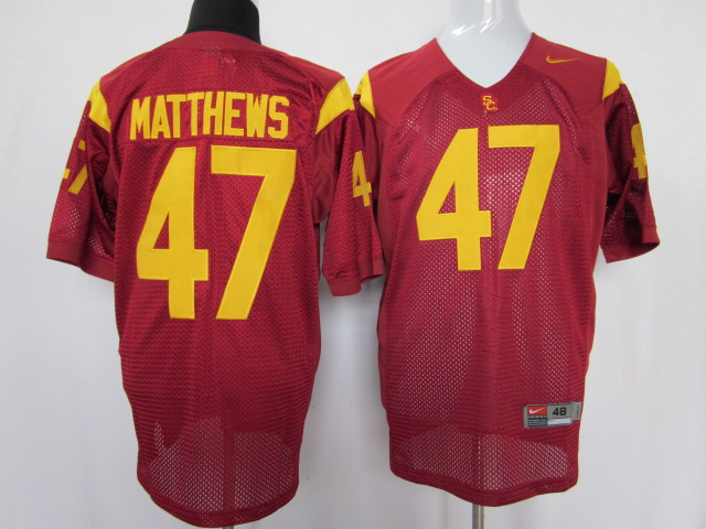 USC trojans 47 Clay Matthews red color jersey