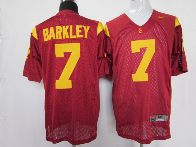 USC trojans 7 Matt Barkley red color jersey