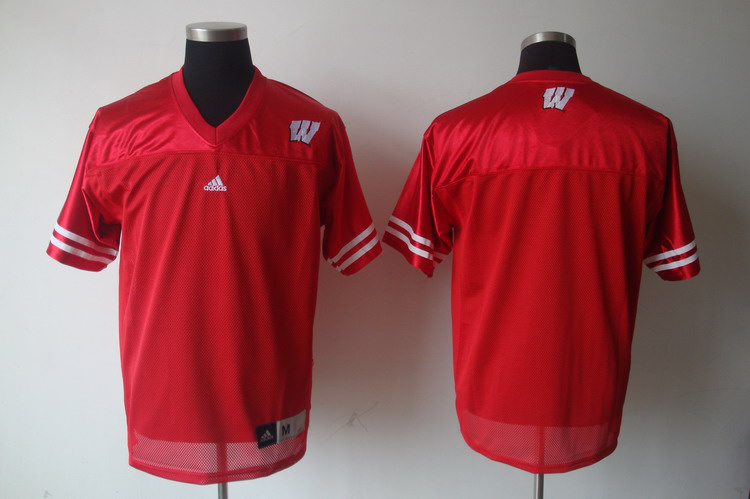 Wisconsin Badgers Red NCAA Custom jerseys