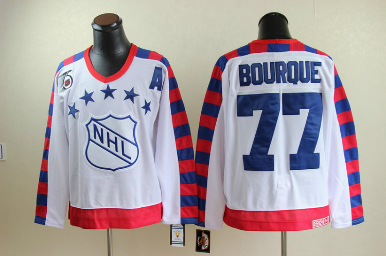NHL All Star Boston Bruins 77 Bourque white jerseys