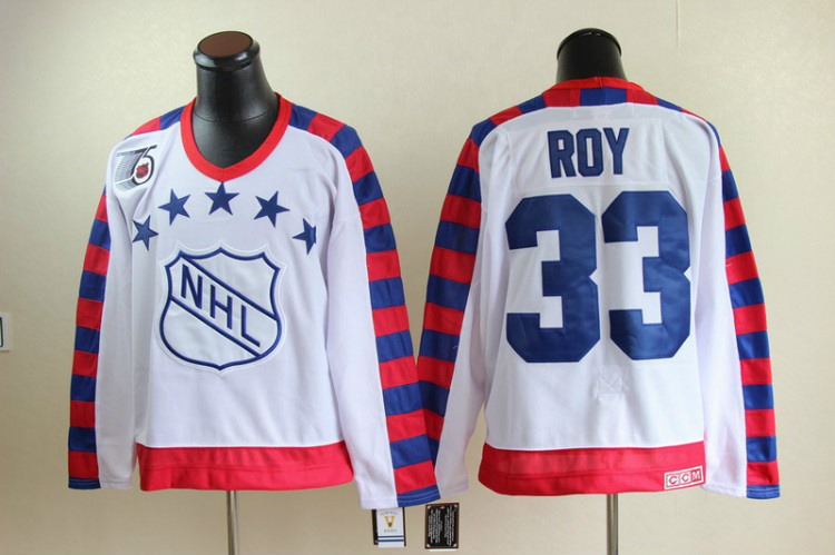 NHL All Star Montreal Canadiens 33 Patrick Roy White jerseys