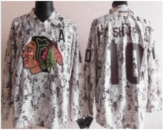 NHL Chicago Blackhawks 10 Patrick Sharp White Camo Jersey