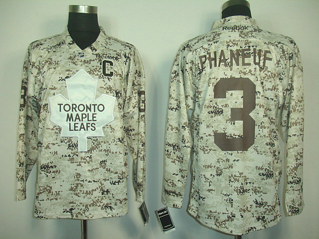 Toronto Maple Leafs 3 PHANEUF CAMO.