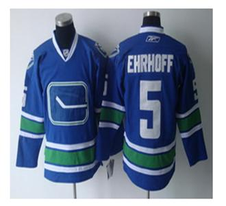 vancouver canucks 5 ehrhoff blue jerseys 3rd