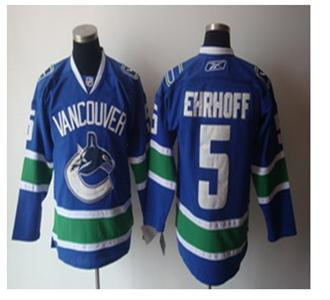 vancouver canucks 5 ehrhoff blue jerseys